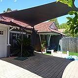 Schwarze Terrasse/Markise/Fensterabdeckung Sonnenschutz Segel HDPE 85% Sonnenschutz Netting Mesh Tuch mit Ösen für Garten Pergola Pavillon (Größe: 3Mx6M)
