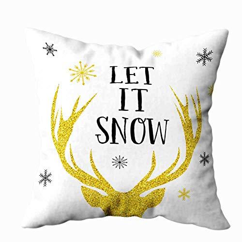 Leacape fundas de almohada de tamaño estándar, funda de almohada suave con diseño tropical de Navidad, flamenco, Papá Noel, para nieve, acuarela, fondo frío, decoración del hogar, 18 x 18 pulgadas, Navidad
