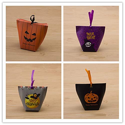 Halloween Süßigkeiten-Boxen Dracula Mummy Frankenstein Jack O Laterne Kürbis Goodie Boxen für Partygeschenke, Dekorationen und Süßes oder Leckerei-Partyzubehör (40 Stück) (Stil C)