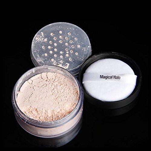 Cipria professionale in polvere sciolta, controllo dell olio per il viso anti-sudore trucco a lunga durata in polvere sciolta cosmetica, trucco fissante, controllo della lucentezza, cipria lunga (3)