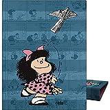 Mafalda 88202637. Carpeta de Anillas A5, 4 Anillas Redondas 20mm, Colección Mafalda Avión
