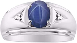 Best blue star sapphire ring mens Reviews