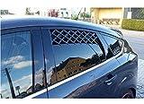 Emanhu Trading 2er Set Tier-Frischluftgitter für das Autofenster Fenstergitter Autogitter für beide Fenster
