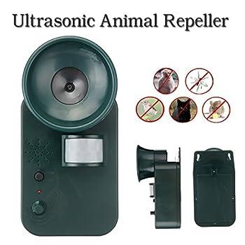 YEMEIMQA Portable Étanche Innocuous Safe Extérieur Ultrasons Animal Rongeur Chat Chien Antiparasitaire Répulsif Fox