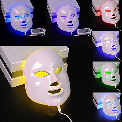 Photon LED Facial Masque rajeunissement de la peau Beauty Therapy 7 couleurs claires avec Plug européenne