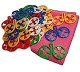 DZUJO, Calcetines Clips, Calcetín Holder, clasificador de calcetín, Family Pack 40 Piezas, 5 Colores, Regalo Libre - paño de Microfibra práctica