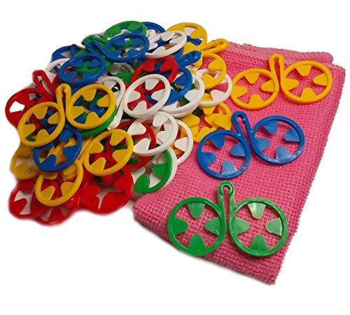 DZUJO, Calze per calzini, Porta calzini, Sock sorter, Family Pack 40 pezzi, 5 colori, REGALO GRATUITO - Pratico panno in microfibra