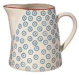 """Bloomingville Teekrug Krug Kanne Milchkanne""""Emma"""" blau/handmade/fasst 700 ml"""
