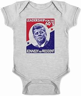 John F. Kennedy Leadership for The 60s Campaign Infant Baby Boy Girl Bodysuit