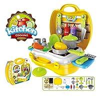 Amandakasa プレイハウスシミュレーション キッチンおもちゃ プレイハウスおもちゃ キッチン 子供用 プレイハウスロール食器 キッチンカット 果物 野菜おもちゃ インタラクティブ クッキング 男の子 女の子
