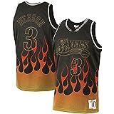 ZDFG Iverson Hombres #3 Baloncesto Camiseta 2000-01 Season,Training Suits Camisetas Allen Philadelphia 76ers Hardwood Classics Flames Swingman Camiseta – Negro