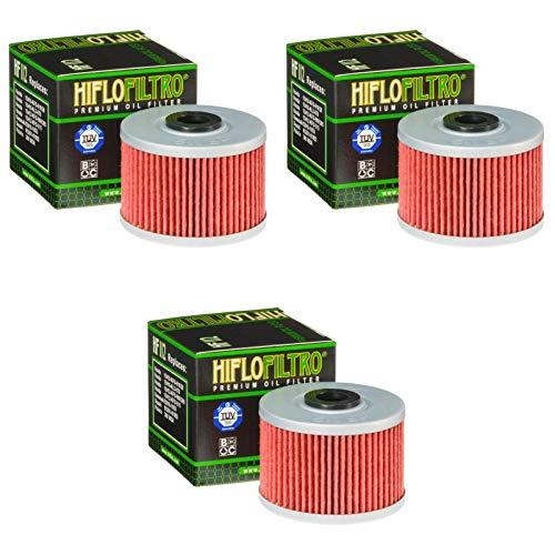 3x Filtre à l'huile Honda XBR 500 S 87-89 Hiflo HF112