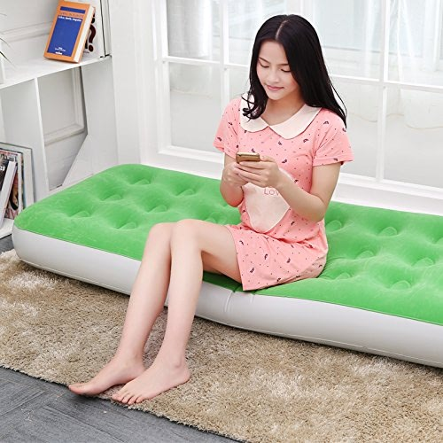 NVZJNDS Lit Gonflable d'air de lit de rehaussant et épaississant Lit Gonflable de déjeuner de lit Gonflable Simple de déjeuner de lit portatif de lit