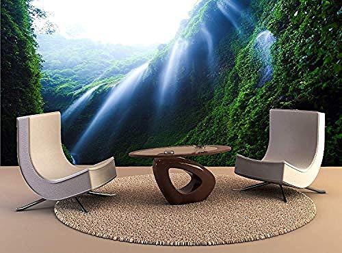 XHXI Wall Print Madakaripura Waterfall East Java Indonesia Wall Print Wall Mural Wall Decal Wall Tapestry 3D Wallpaper Paste Living Room The Wall for Bedroom Mural border-300cm×210cm