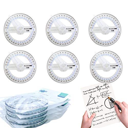 Heatoe Winkelmesser mit Arm, 360° Winkelmesser für Schule, Büro, Zuhause, Kunst, Mathematik, Geometrie, Zeichenwerkzeug, Malwerkzeug, Winkelmesser, 15 Stück