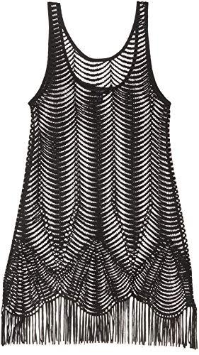 New Look Scallop Crochet Copricostume, Nero (Black 1), 60 (Taglia Produttore: 51) Donna