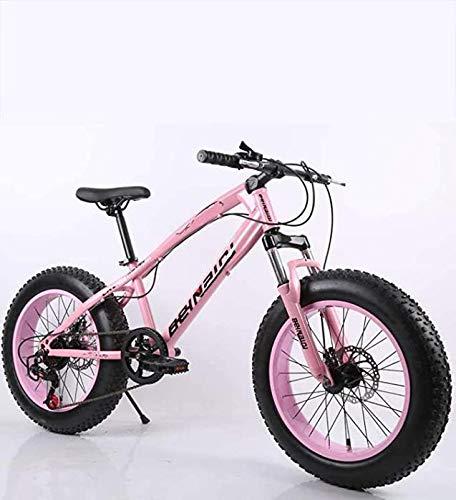 AISHFP Fat Tire Herren Mountainbike, Doppelscheibenbremse/High Carbon Carbon Frame Cruiser Bikes, Strand Schneemobil Fahrrad, 24 Zoll Räder,H,21 Speed