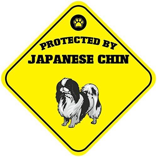 Wennuna protégé par épagneul Japonais Chien en métal Aluminium Fantaisie Sign 30,5 x 30,5 cm