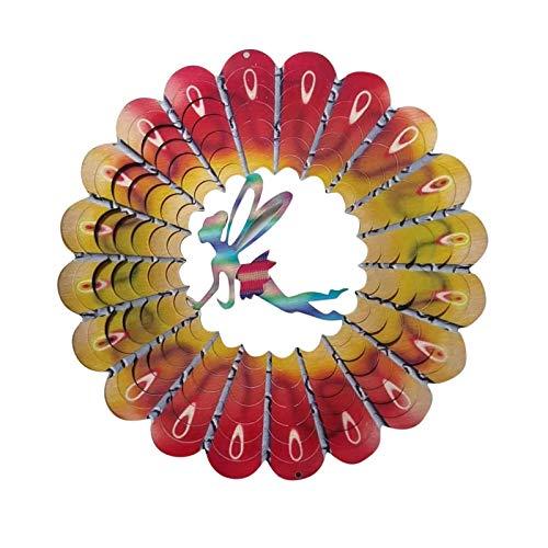Decoración de Jardín al Aire Libre Spinner de Viento Ornamento Spinner Adorno Decoracion Molino de Viento Decoración 3D Carrillón de Metal - Adornos de Navidad para Decoración de Patio del Hogar (A)