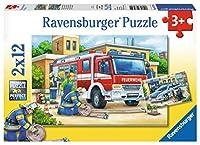 ラベンスバーガー(Ravensburger) ジグソーパズル 07574 4 パトカーと消防車(12ピース×2)