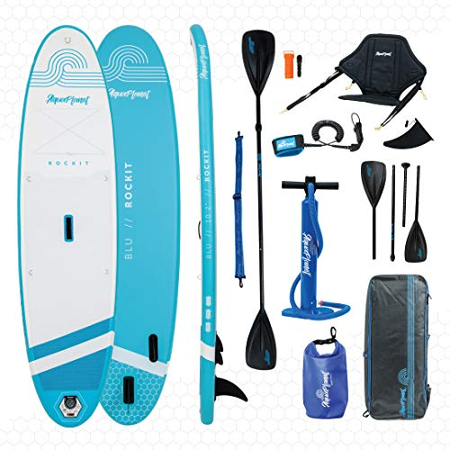 aquaplanet Rockit Sup Kit Tabla Inflable de Remo, Color Azul/Blanco, 3 m