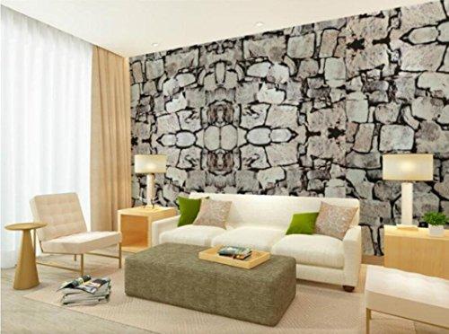 Rureng 3D Backsteinmauer Stein Rock Slate EffectWallpaper C