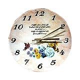 Shabby Chic Reloj De Pared Flor De Mariposa Reloj para Niños para Regalo Hogar Oficina Cocina Vivero Sala De Estar Dormitorio