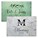 Personalized Glass Cutting Board, Tempered Glass Cutting Board | 12 Designs, 11x8 | Housewarming Gifts, Personalized Wedding Gifts for Couple | Custom Cutting Boards for Kitchen, Kitchen Sign