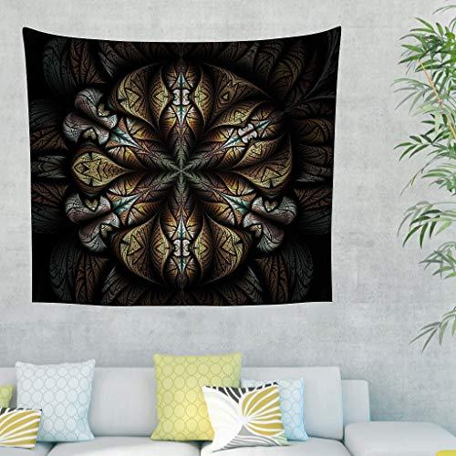 Zhouwonder Populares Handicrafts - Tapices para colgar en la pared con decoración hippie para dormitorio, color blanco