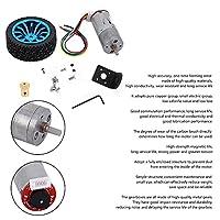 スマートカー用ロボット用DCモーターDC24VエンコーダーギアモーターDIY(Speed 1000)