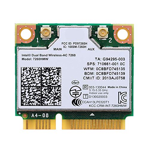 Network Bluetooth Card for 7260HMW Dual Band Wireless-AC 7260 Network Adapter PCI Express Half Mini Card 802.11 b/a/g/n/ac