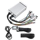 FECAMOS Controlador Sin Escobillas, Accesorio De Scooter Eléctrico 124DX Juego De Manillar De Scooter Eléctrico LCD Buena Función De Disipación De Calor para 36V / 48V