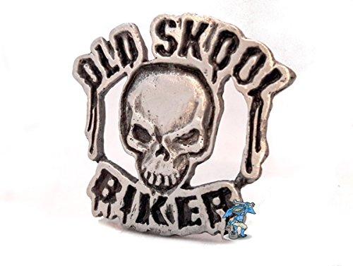 Daywalker Bikestuff Bikerpin Old School Skull Totenkopf Backpatch Top Rocker Bottom DW0937