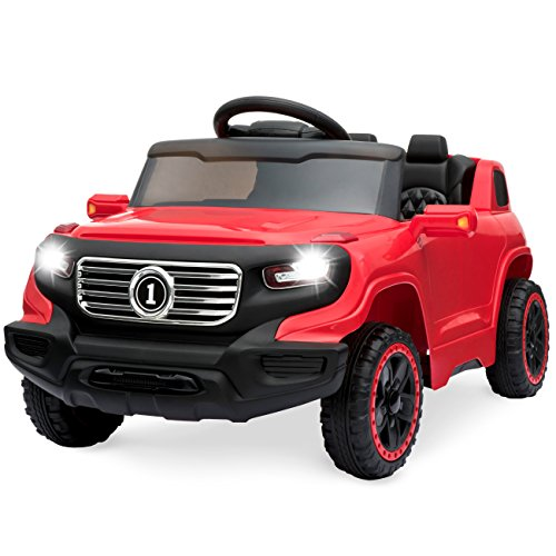 Best Choice Products Kids 6V Ride On Truck w/ Parent Remote Control, 3 Speeds, LED Lights, Red