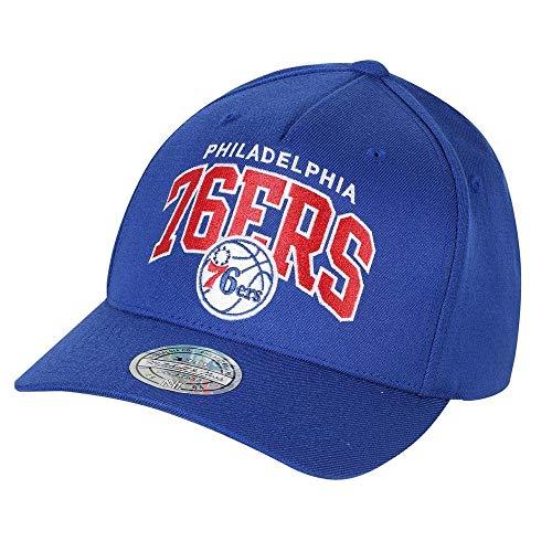 Mitchell & Ness - Cappellino da basket dei Boston Celtics (NBA), Flexfit 110, con fascetta regolabile, Uomo, Philadelphia 76ers - Blu, Taglia unica