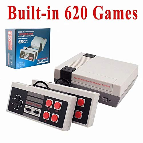 SUNHM Retro Game Console Plug amp Play Classic Game Console Builtin 620 Classic Game Button 2 in 1 Gamepad for NES Game Console Handheld Games Supporting 2 Players amp TV Connection 4 Buttons