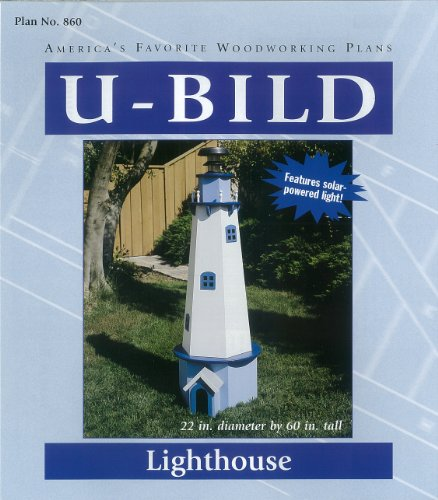 Woodworking Project Plan to Build a 5ft New England Lighthouse