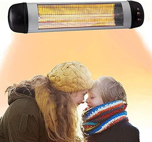 Calefactor de terraza Calentador de espacio de infrarrojos de carbono for interiores/al aire libre,calentador de patio eléctrico 2500W,IP34 Calentador de pared a prueba de agua con control remoto,for