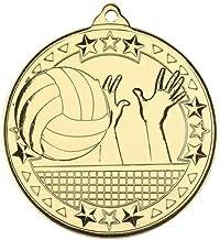 Lapal Dimension Volleybal 'Tri Star' medaille - goud - 2 in Pack van 10