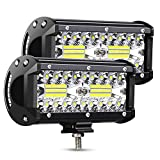 AMBOTHER LED Light Bar Off Road 7-Inch 240-Watt Spot Flood...