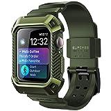 SUPCASE Apple Watch Series 4/5 44mm ケース 保護カバー バンド 44mm 衝撃吸収 アップルウォッチ シリーズ 4/5 対応 深緑