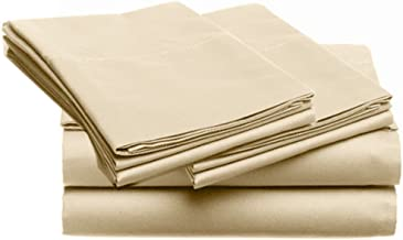 SUPER SOFT Microfiber Loft 21 Collection, QUEEN 4pc Sheet Set, 3-LOF21S-100, Solid IVORY
