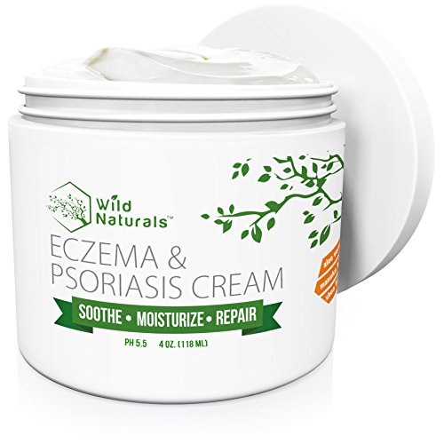 Wild Naturals Eczema Psoriasis Cream  for Dry Irritated Skin Itch Relief Dermatitis Rosacea and Shingles Natural 15in1 Formula Promotes Healing and Calms Redness Rash and Itching Fast
