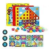 Fansteck Tablero de Mosaicos Infantiles, Puzzle 3D, Rompecabezas Niños de Uñas Setas, Ta...