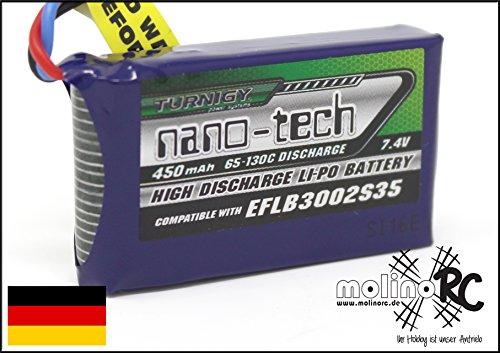 Turnigy nano-tech 450mAh Lipo Akku 2S 65C-130C für E-flite Blade 130X