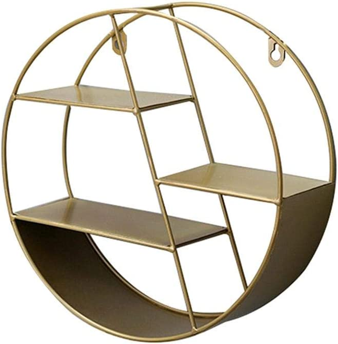 glueckind Round Wall Shelf Floating Shelves Rustic Luxury Raleigh Mall 3-Tier Metal