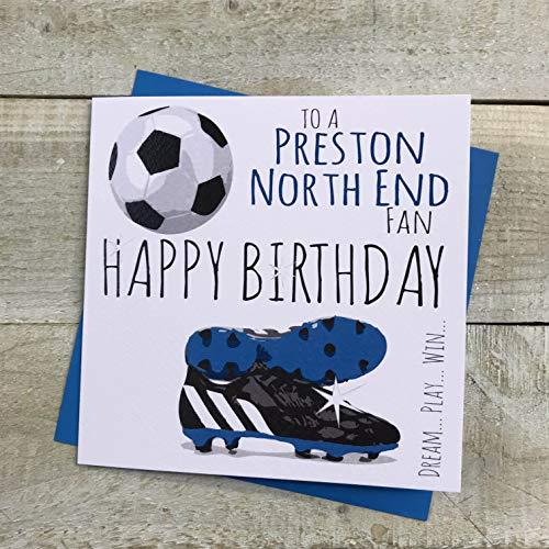 Preston North End FC Football Club Birthday Card - by WHITE COTTON CARDS - FFP60