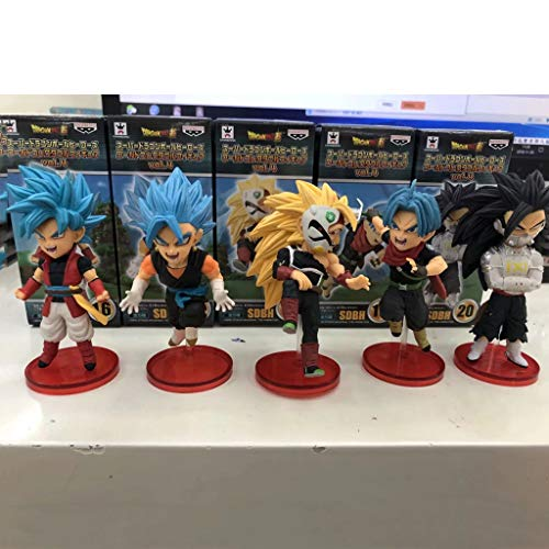 DUDDP Statue di Anime Anime Dragon Ball Animation Model Sun Wukong Hobby Collection 5 Heroes Dragon Ball Action Map Personaggi di Anime