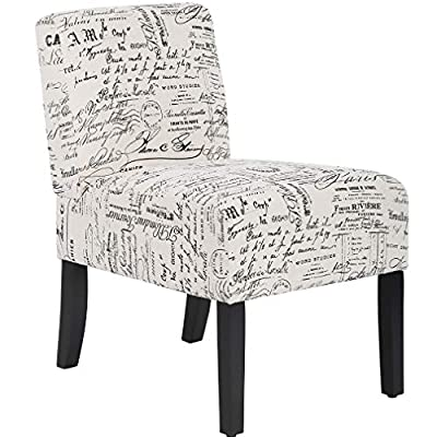 Dining Chairs Accent Chair with Solid Wood Legs Home Furniture for Living Room Armless Chair Modern Accent Chair Elegant… - ★[COMFORTABLE SOFT SEAT] - Our accent chair padded with numerous high-resiliency foam with letter print fabric, sofa chair brings yourself into a state of relaxation, this accent chair gives you a excellent seating experience. The accent chair can not only useful in bedrooms or living rooms, but also sofa chair create a cozy seating area in your office to relieve your tiredness. Armless chair sofa chair accent Chair. ★[EASY TO PUT TOGETHER] - This accent chair comes with all hardware & necessary tools, the armless chair of installation is simple and easy, you can finish the sofa chair in 5-10 minutes. Accent chair armless chair sofa chair. ★[CONTEMPORARY & MINIMALIST DESIGN] - The accent chair have unique design is a nice touch of contemporary appeal, the upholstery of the armless chair is carefully crafted to ensure durability use sofa chair. Sofa chair accent chair armless chair. - living-room-furniture, living-room, accent-chairs - 51ps2vLIwhL. SS400  -