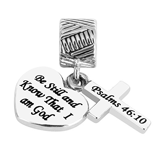 Joshua Home Jewelry Be Still and Know That I am God Christian Charms Beads for European Bracelets Gift for Sister Women Boys Brothers